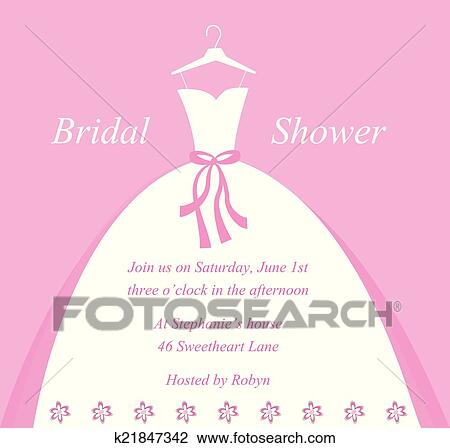 Clipart of bridal shower invitation k21847342 search clip art beautiful bridal wedding shower invitation filmwisefo