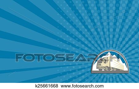 Stock illustration of business card container truck and trailer stock illustration business card container truck and trailer retro fotosearch search eps clip colourmoves