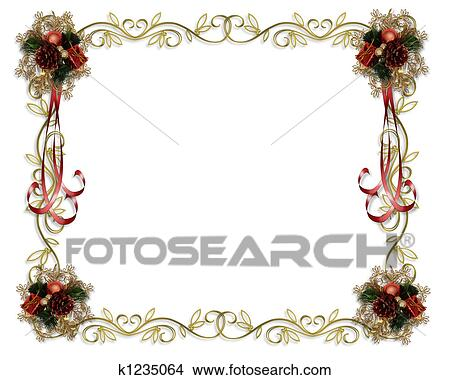 drawings of christmas frame fancy border k1235064 search clip art