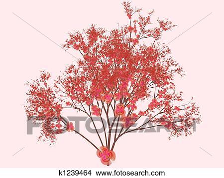Dibujos Flores De Cerezo K1239464 Buscar Clip Art Ilustraciones