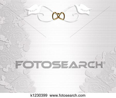 Stock Illustration Hochzeitskarten Weiss Tauben K1230399 Suche