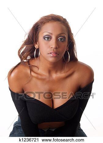 Naakte zwarte vrouw Fotos