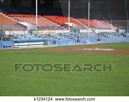 Stock photo of baseball fields k1234124 search stock for Baseball field mural