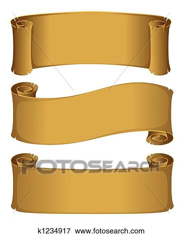 stock illustration of parchment scroll k1234917 search eps clipart