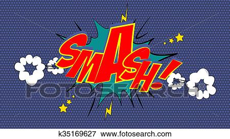 picture of smash comic book bubble text k35169627 search stock