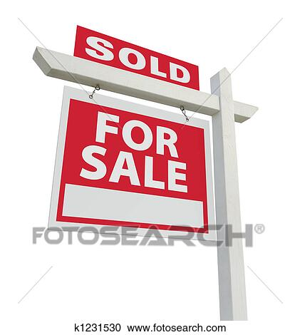 stock illustrations of sold for sale real estate sign k1231530 rh fotosearch com real estate sold sign clipart sold out sign free clipart
