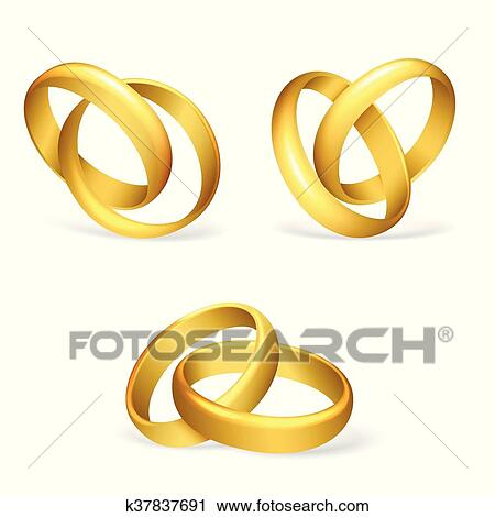 Vector Wedding Rings Clipart K37837691 Fotosearch