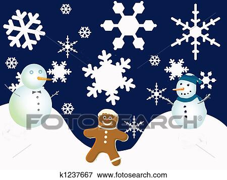stock illustration of winter holiday scene k1237667 search eps rh fotosearch com winter holiday scene clipart winter holiday clip art free images