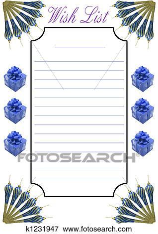Stock Illustration Of Wish List Christmas K1231947 Search Eps
