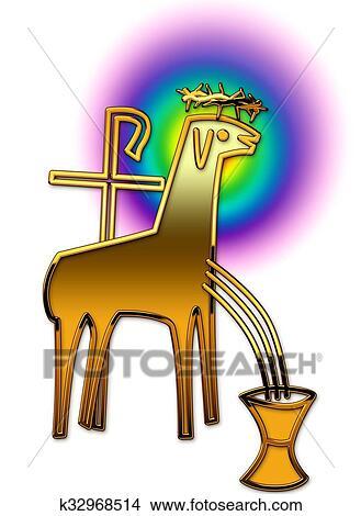 Dessins agneau k32968514 recherche de clip arts d 39 illustrations et d 39 images vectoris es au - Dessin agneau ...