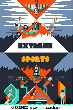 clip art of extreme sports poster k23838608 search clipart