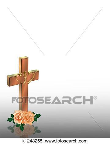 Stock Illustration Hochzeitskarten Christliche Kreuz K1248255