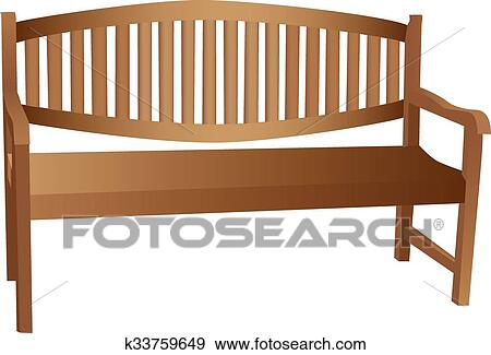 Outstanding Illustrated Wooden Bench Clip Art K33759649 Fotosearch Pabps2019 Chair Design Images Pabps2019Com