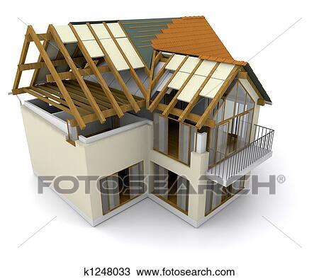 Dessin maison construction k1248033 recherchez des for Dessins de construction de maison