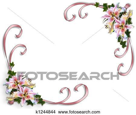 Zeichnungen Lilie Blumen Hochzeitskarten K1244844 Suche Clip