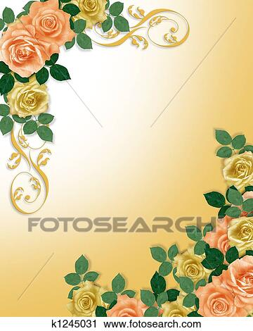 clipart of roses template wedding invitation k1245031 search clip