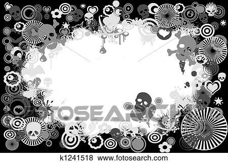 Stock Illustration of skull frame k1241518 - Search EPS Clip Art ...