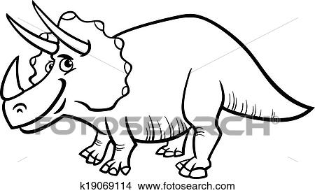 triceratops dinosaur coloring page clipart k