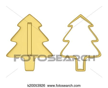 Biscotti Albero Di Natale 3d.3d Render Di Albero Natale Biscotto Frese Archivio Illustrazioni