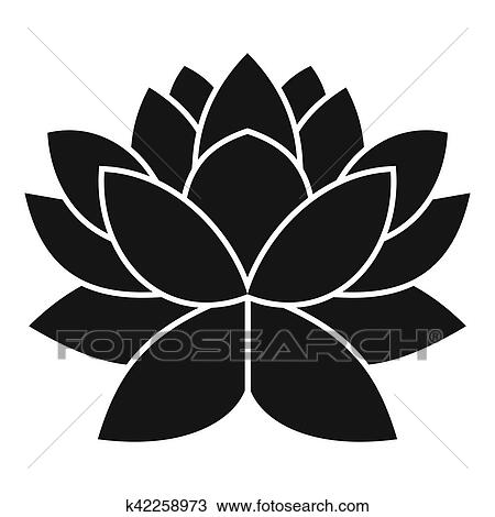 Dibujo Flor De Loto Icono Simple Estilo K42258973 Buscar Clip