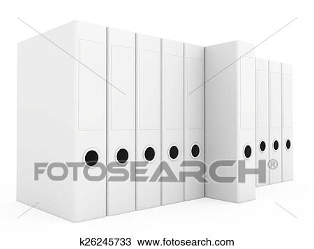 Office Blank Folder Template Isolated On White Background 3d