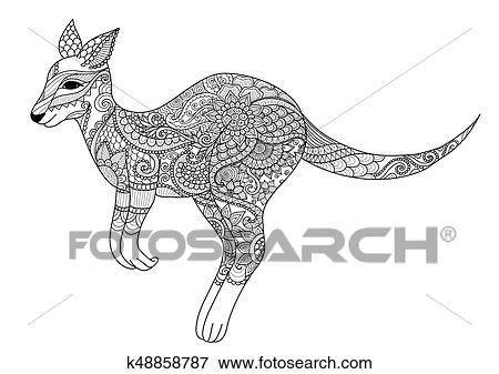 Clip Art - canguro k48858787 - Buscar Clip Art, Ilustraciones de ...