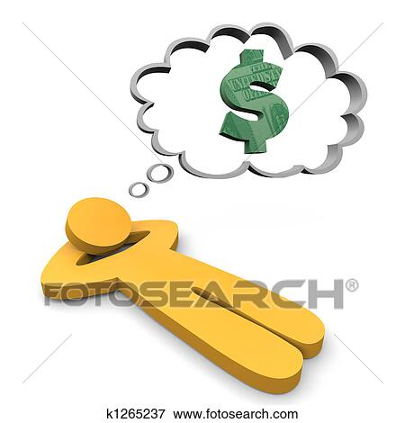 Stock Illustration Of Dreaming Money K1265237