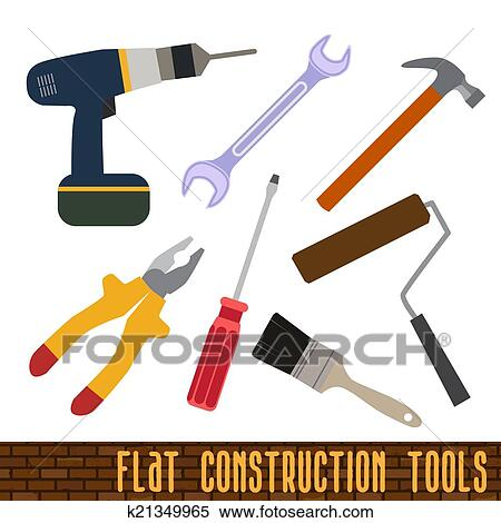 Clipart Of Icons Set Of Craft Tools K21349965 Search Clip Art