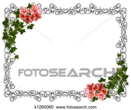 Ivy Floral Border Invitation Clipart K1260060 Fotosearch
