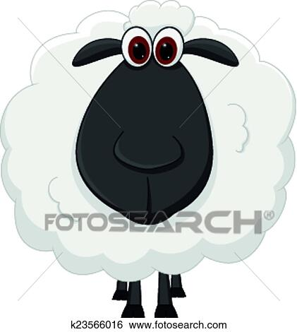 Mouton dessin anim clipart k23566016 fotosearch - Mouton dessin anime ...