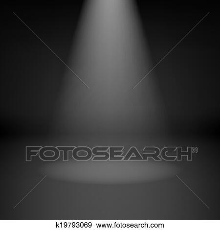 Vacío, cuarto oscuro, con, proyector Clip Art | k19793069 | Fotosearch