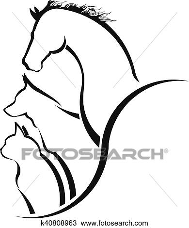 clipart of veterinarian care horse dog and cat together friendly rh fotosearch com veterinarian clipart black and white veterinary clip art free