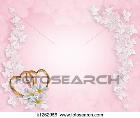 stock illustration of wedding invitation background pink k1262956