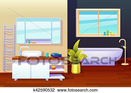 Bagno disegno interno composizione clipart k42590532 - Disegno bagno peccioli ...