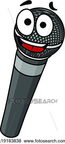 clip art of cartoon handheld microphone k19183838 search clipart