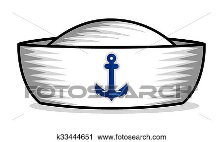 Clipart - chapéu marinheiro. Fotosearch - Busca de Ilustrações c9c6565d08e