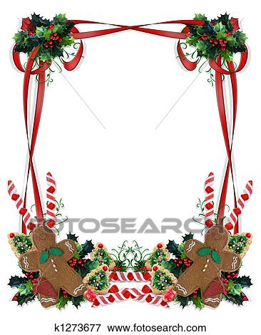 christmas border stock illustration rh fotosearch com Winter Holiday Clip Art christmas holiday border clipart