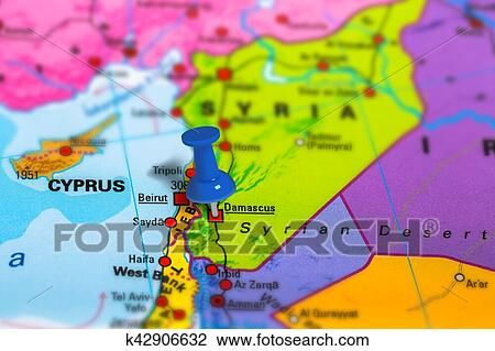 Stock Photo of Damascus Syria map k42906632 - Search Stock ...