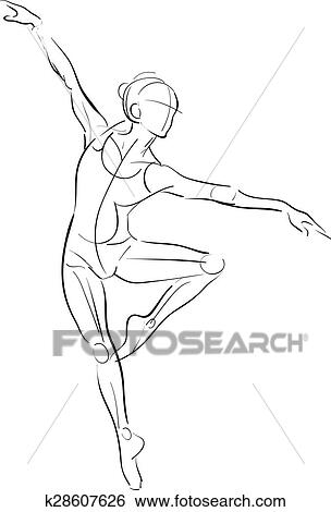 Clip Art of Female anatomy drawing sketch k28607626 - Search Clipart ...