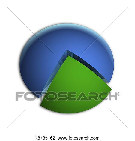 clip art of highlighted 25 business pie chart k8735162 search