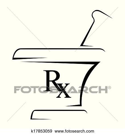 Clip Art Of Medical Rx Simple Symbol K17853059 Search Clipart