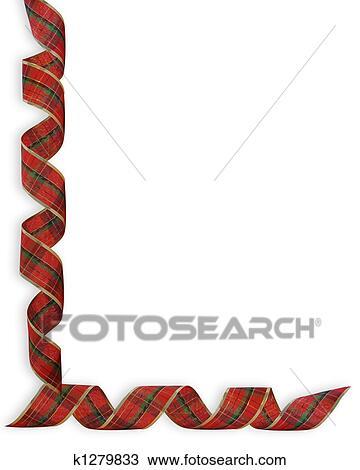 Dibujo navidad cintas esquina frontera k1279833 Buscar Clip
