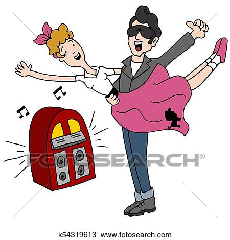 Dance Rock And Roll Swing Clip Art - Free - Fifties Cliparts Transparent PNG