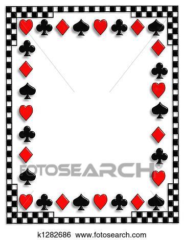 イラスト トランプ ボーダー ポーカー K1282686 クリプアート