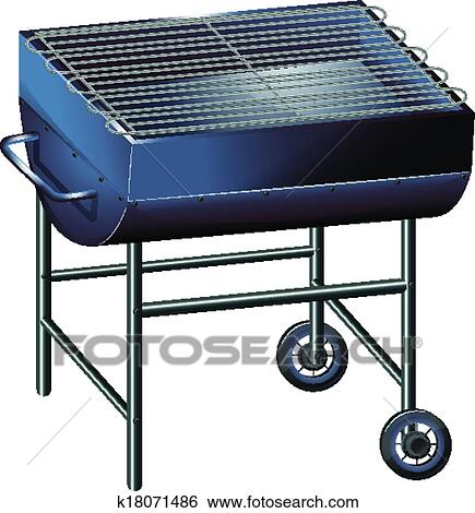 clip art of a gray barbeque grill k18071486 search clipart