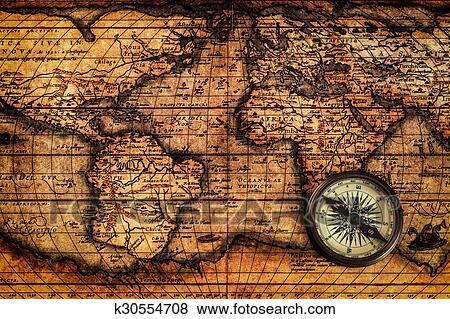 landkarte alt Bilder   alt, altmodisch, kompaß, auf, uralt, landkarte k30554708  landkarte alt