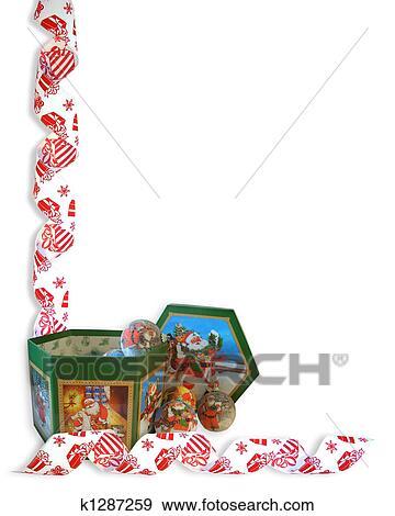 Christmas Decorations Border Stock Illustration