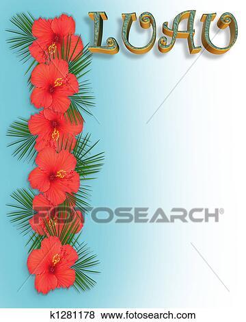 Stock Illustration Of Luau Invitation Background K1281178 Search