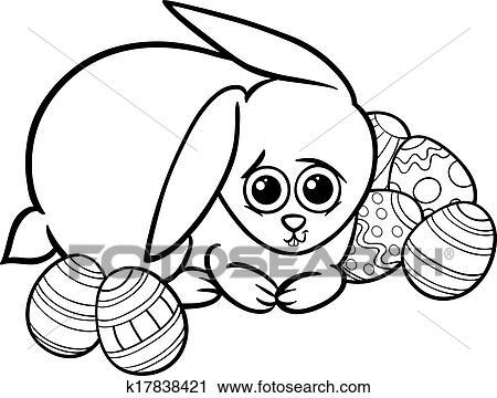 Clipart Oster Hase Karikatur Für Ausmalbilder K17838421 Suche