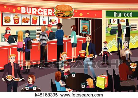 Food Court Clipart